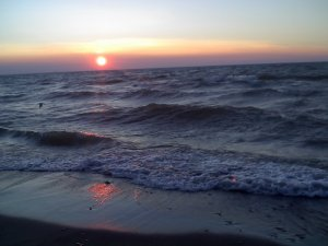 Summer Sunset Over Lake Erie, Headlands Beach State Park, Ohio