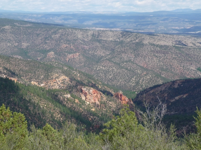 Copperas Mountain Overlook, 7040 ft, Trail of the Mountain Spirits, Gila National Forest, NM