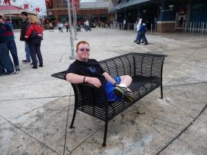 Andy on the Riverwalk in Newport, Kentucky