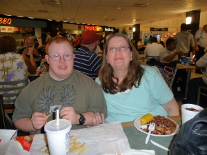 Andy and Sally in B concourse food court
