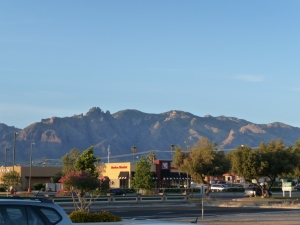 View from our hotel in Tucson