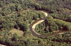 Aerial View of Cuyahoga River in CVNP (NPS collection)