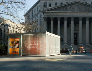 The StoryBooth in Foley Square in downtown Manhattan