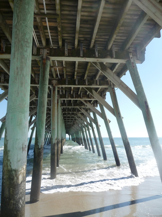 Under the boardwalk, down by sea.....