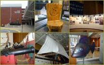 Scenes inside the Maritime Museum