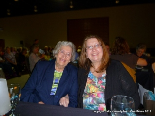 My mother and I at the Salt Cooking Show for our birthdays, near Wilmington, Ohio