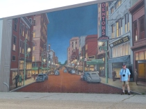 Just one of the amazing panels on the Portsmouth, Ohio, floodwall