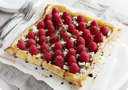 Savory Raspberry Cheese Galette