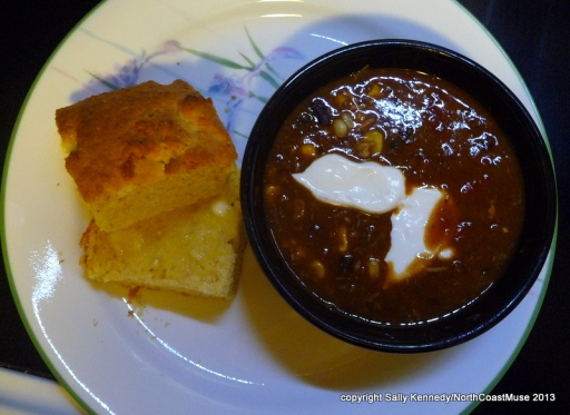 Smoked Pork Chili with Conrbread
