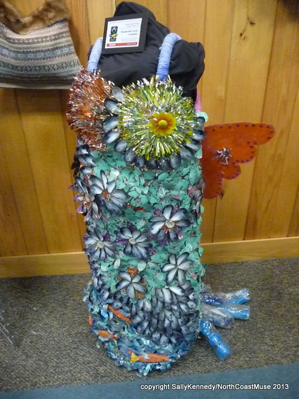 Costume made from cans and shells