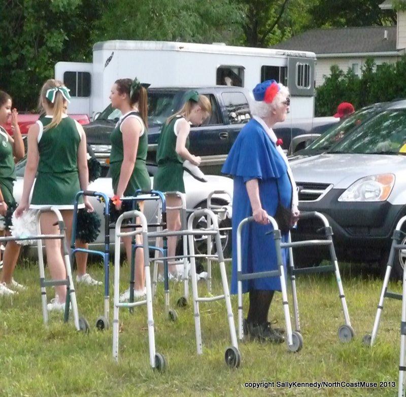 Granny and Cheerleaders